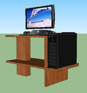 Cara Membuat Meja Komputer dari Kayu Bekas