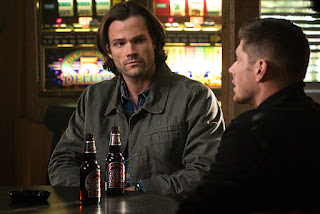"Jared Padalecki as Sam Winchester & Jensen Ackles as Dean Winchester in Supernatural 11x19 ""The Chitters"""