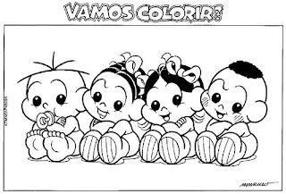 Desenhos Para Colorir E Imprimir Turma Da Mônica Para