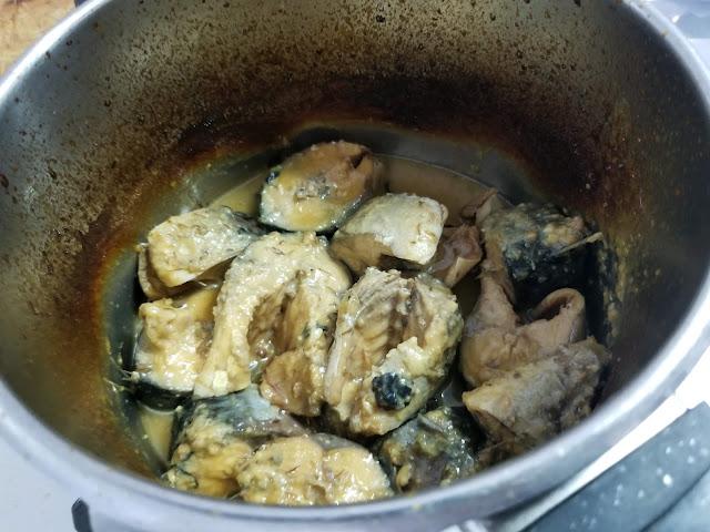 サバの味噌煮込みが出来上がったときの画像