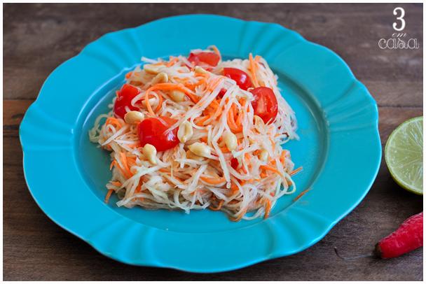 receita salada mamão verde