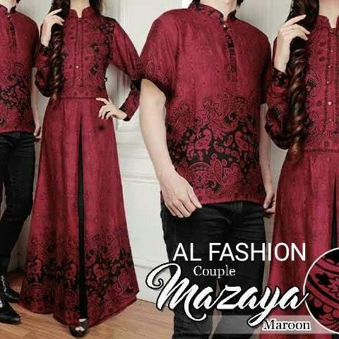 Baju Batik Couple Chubby Dua Warna Merah Maroon Bj0012