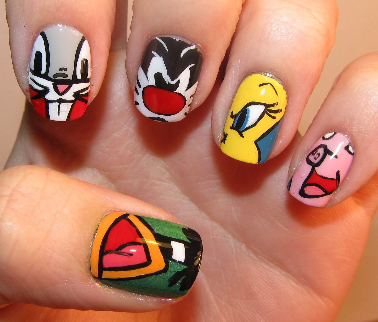 Todo Unhas: Uas de Dibujos Animados - Cartoon Nail Art ...