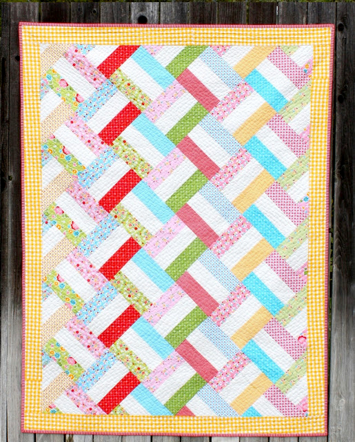 Baby Basket Strip Quilt Free Pattern