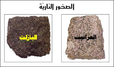 الصخور: الصخور النارية - الصخور الرسوبية - الصخور المتحولة