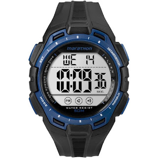 Timex TW5K94700 Digital Full Marathon Black And Blue Chrono