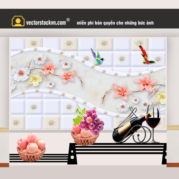 Tranh Ngọc 3d trang trí phòng khách