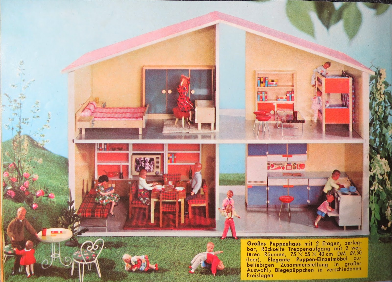 diepuppenstubensammlerin puppenhaus 1966 bodo hennig dollhouse. Black Bedroom Furniture Sets. Home Design Ideas