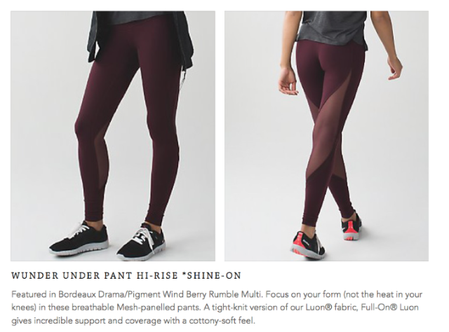 lululemon wunder-under-pant shine-on