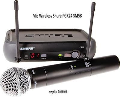 Harga Mic Wireless Shure PGX24/SM58