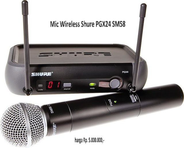 Harga Mic Wireless Shure PGX24/SM58