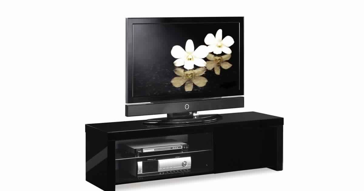 Meuble Tv Noir Et Blanc Laque Conforama Idees Decoration Idees