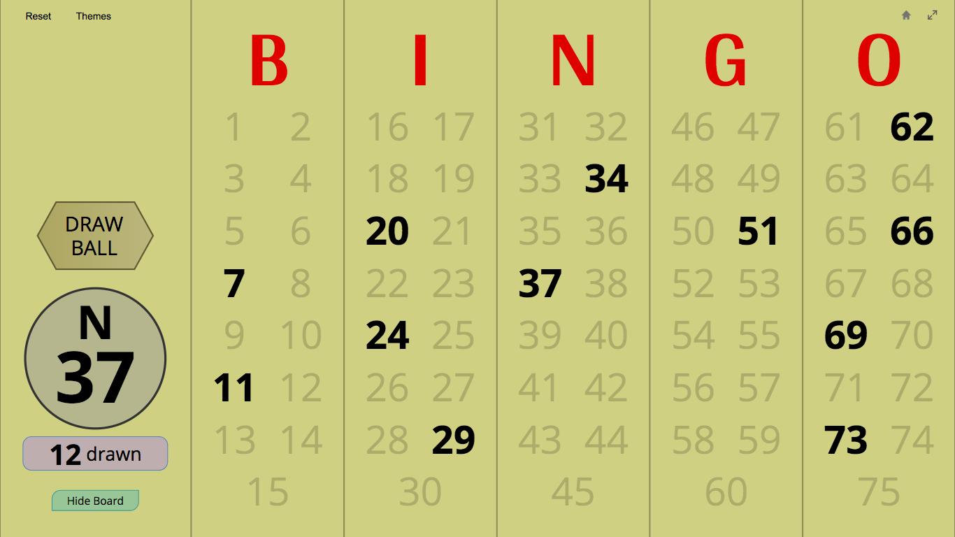 master - Bingo Master Board for Web BingoWebVintage