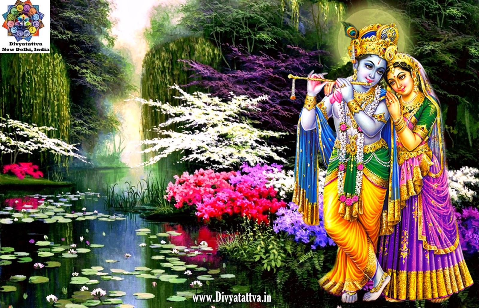 radha krishna full size love enchantment scenery creative lotus enchanted attractions trees beautiful nature colors wallpaper flower 4k www.divyatattva.in