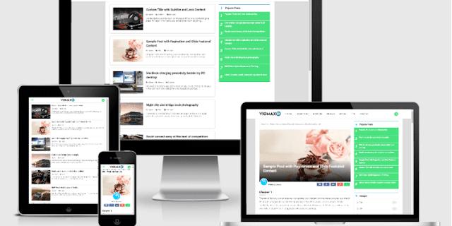 Viomax Go Responsive Blogger Template