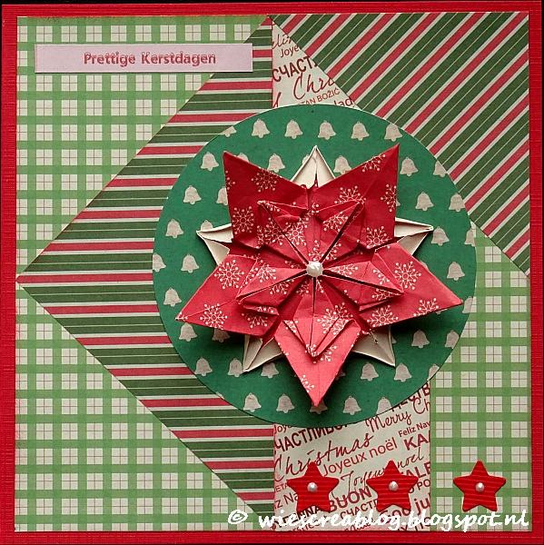 Wies creablog kerstkaarten 2016 16 - Een ster in mijn cabine ...