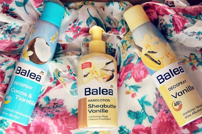 Balea Coconut deodorant, Vanilla deodorant and Hand-lotion