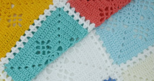 Victorian lace square crochet blanket or what I