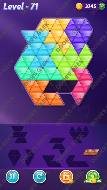 Block! Triangle Puzzle 8 Mania Level 71 Solution, Cheats, Walkthrough for Android, iPhone, iPad and iPod