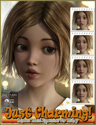 http://www.daz3d.com/just-charming-mix-and-match-expressions-for-mika-7-and-genesis-3-female-s