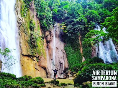 air terjun samparona baubau