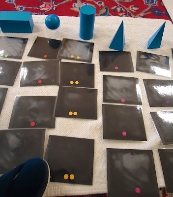 Backs of Geometric Solids Sorting Cards Showing Control of Error (Photo from To the Lesson!)
