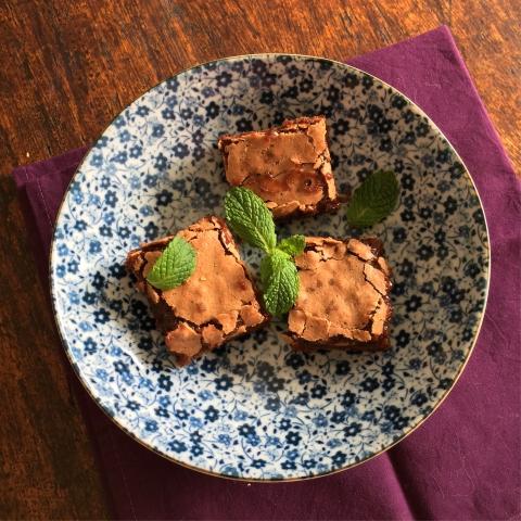 brownies de hortelã