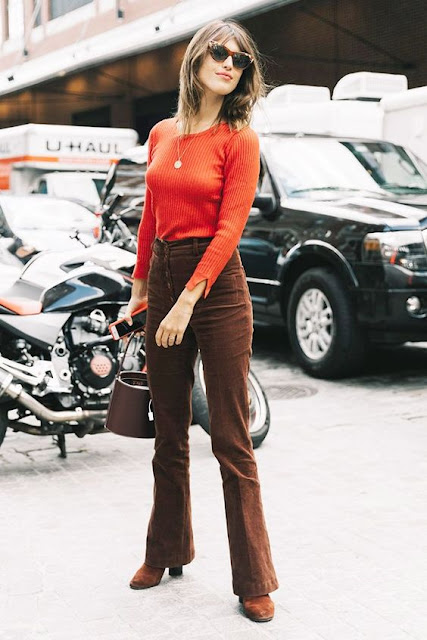 Corduroy Pants Street Style