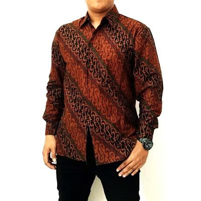 Contoh Model Baju Batik 2018 Kemeja Batik Kombinasi Pria Batik Pattern Motif Parang