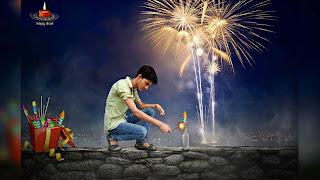 Diwali Background With Photo Manipulation
