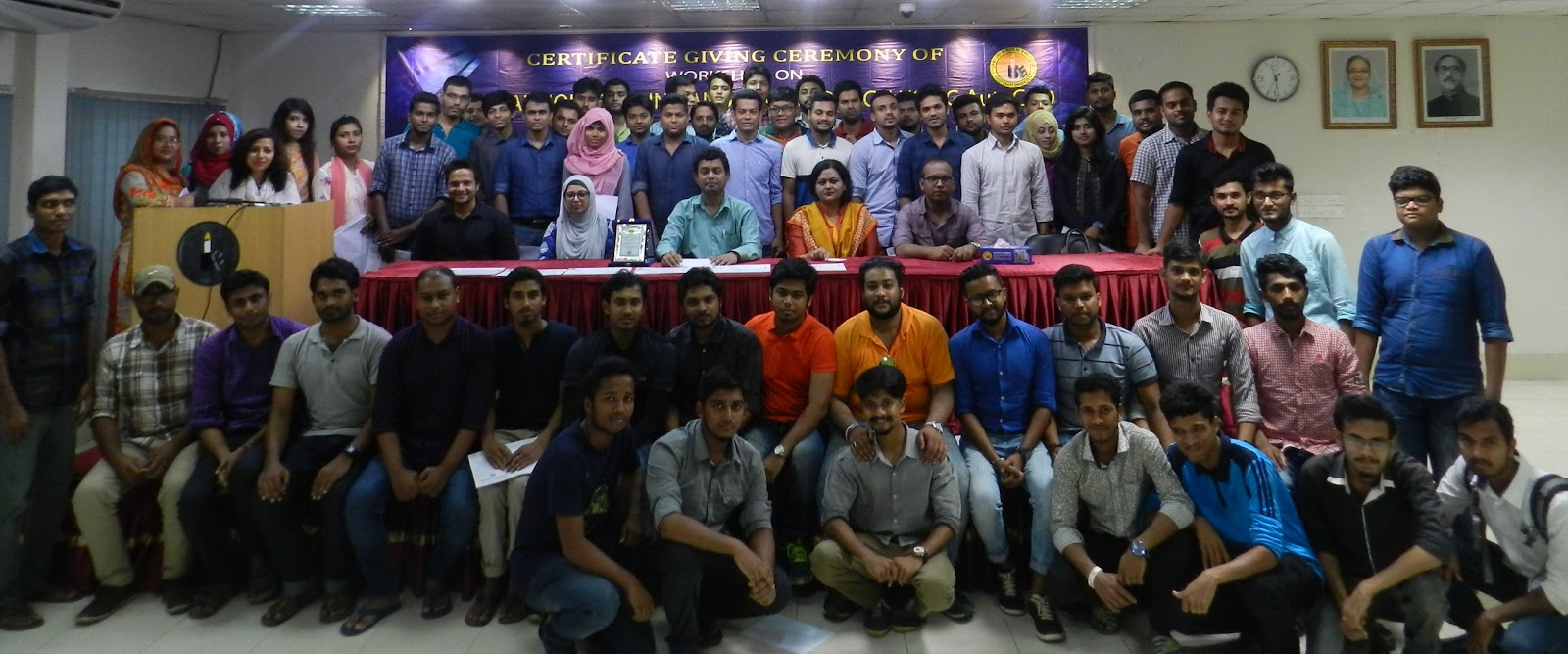 AutoCAD Workshop Certificate Giving Ceremony held at EEE Department of Southeast University