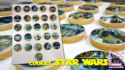 Galletas personalizadas de impresión comestible Star wars Laia's Cupcakes Puerto Sagunto