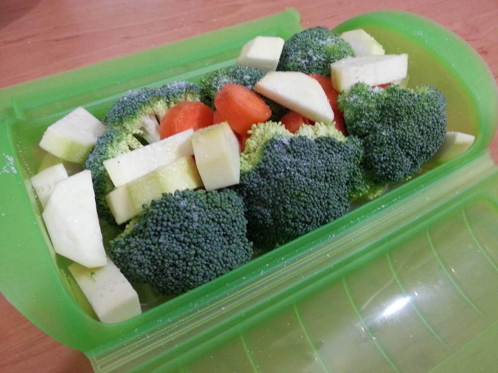 Pechuga ala plancha con verduras al vapor