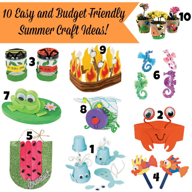 10 Easy and Budget Friendly Summer Craft Ideas
