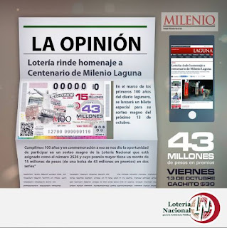 The Mexican daily Opinion celebrates 100 years and National Lottery with them