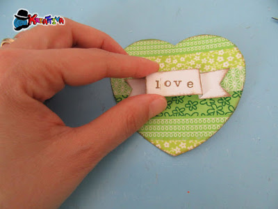 personalizza il cuore realizzato con il washi tape