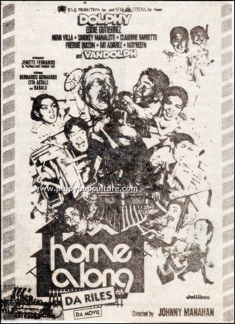 sitcoms, movies, Star Cinema, Dolphy, Home Along Da Riles Da Movie