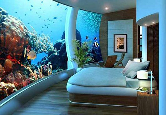 Poseidon Resort Fiji - Bedroom underwater