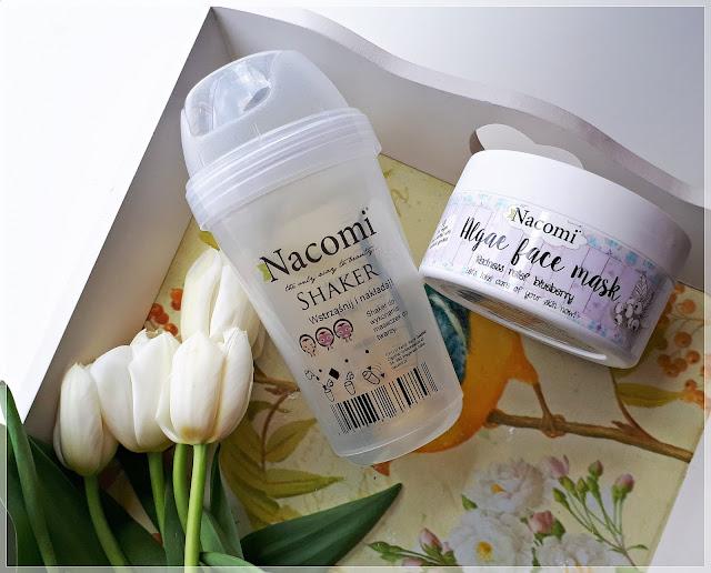 Kłopotliwa Maska Algowa z Borówką Nacomi + Shaker