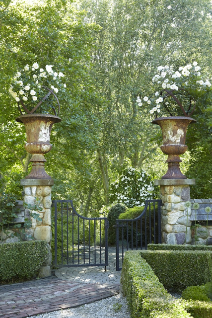 Inspiring image of a beatiful gated entry of home in the Hamptons - found on Hello Lovely Studio