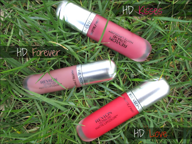 Revlon Ultra HD Matte Liquid Lip Colors: HD Kisses, HD Forever, HD Love