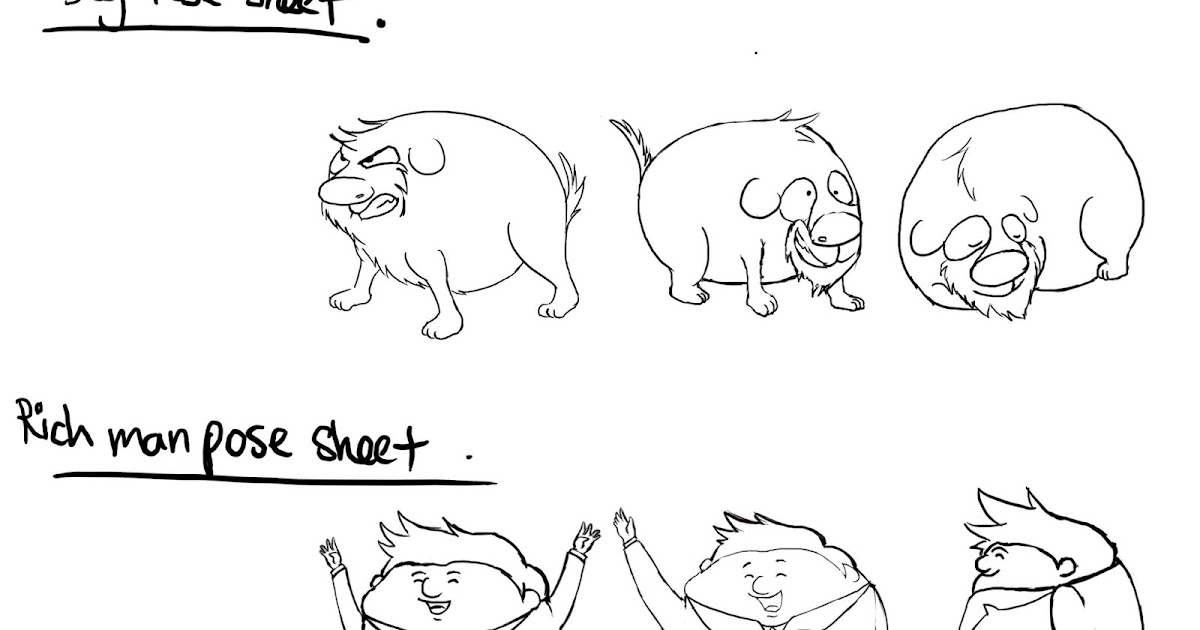 Studio Project Online Production Journal: Pose Sheet