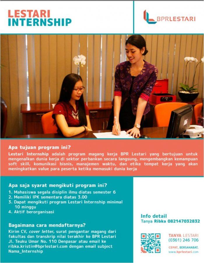 Program Magang Kerja di BPR Lestari Denpasar