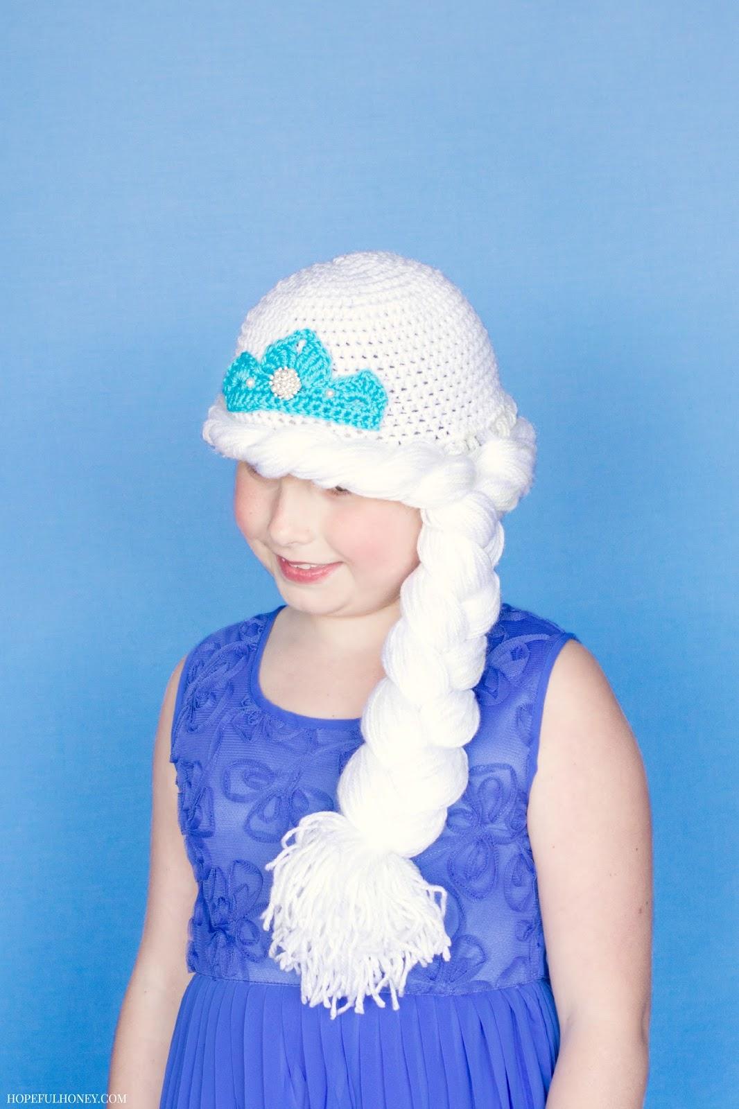 Free Pattern Crochet Elsa Hat ~ Pakbit for . d61f7f13b50