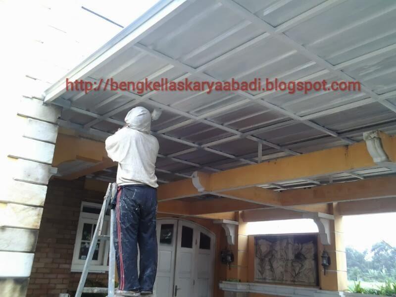 contoh gambar canopi minimalis spandek