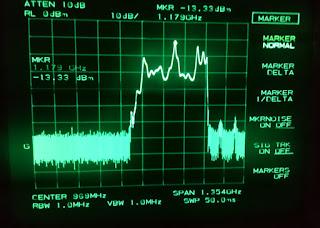 OH2DD 1.17GHz kohdalla vaimennusta on enää vain -10dB