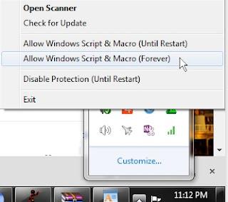 Mengaktifkan Windows Script forever