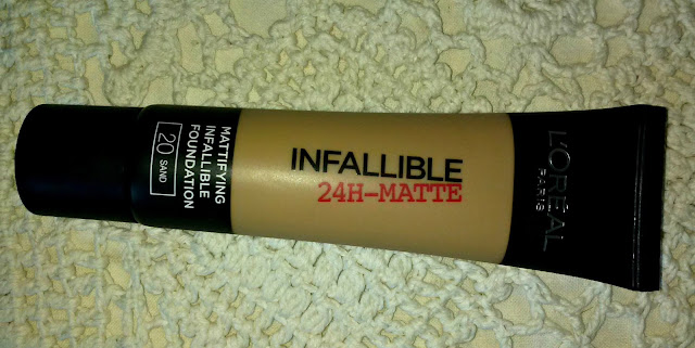 l'Oreal infallible 24h matte 20 sand