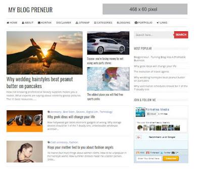 Blogpreneur Template