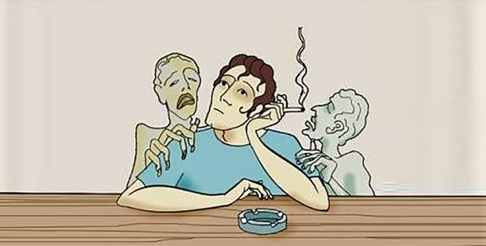 Depoimento de um fumante após a morte